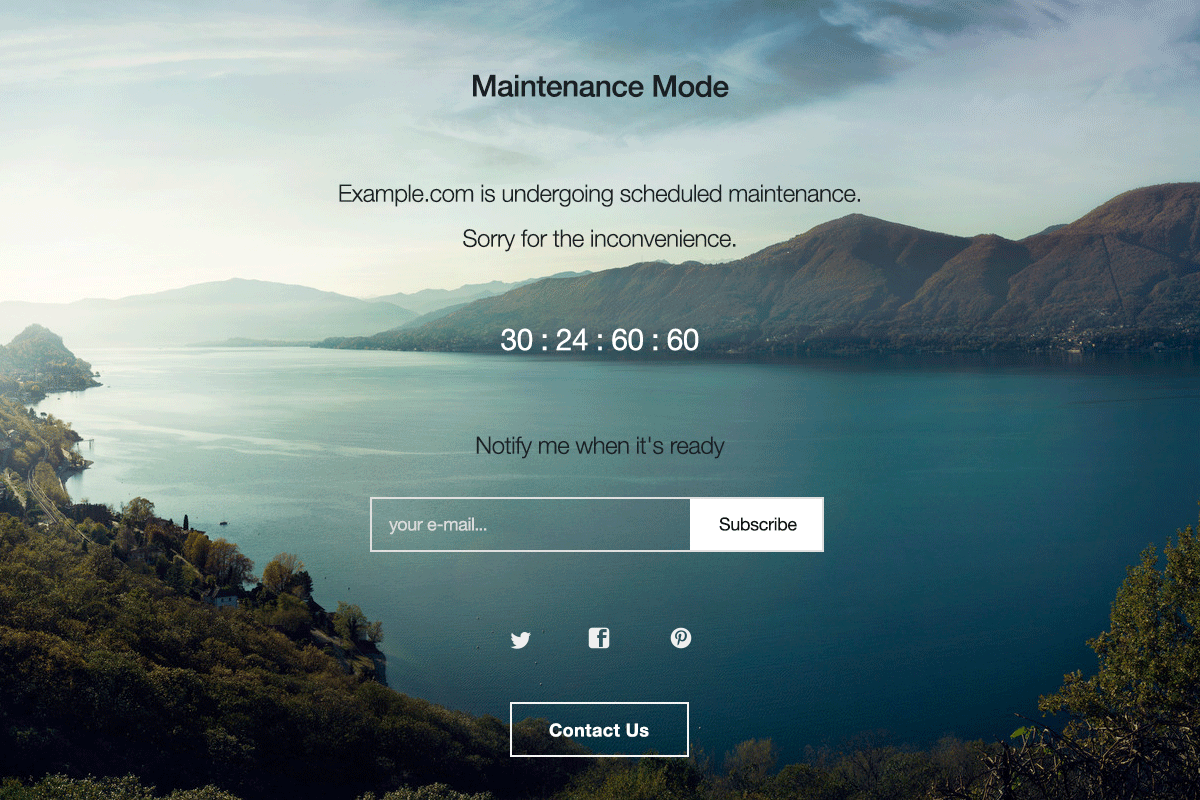 Ejemplo WP Maintenance Mode - Modo Mantenimiento en Worpress