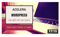 youtube ejemplo vídeo acelearar wordpress