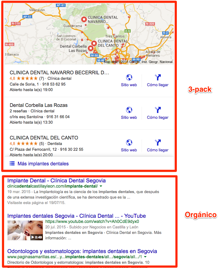 desktop resultados locales google