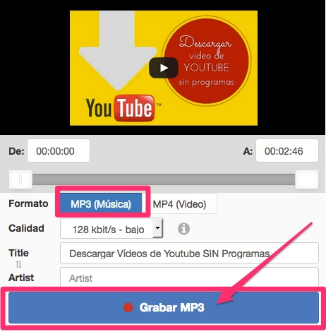 descargar videos de youtube en hd sin instalar programas