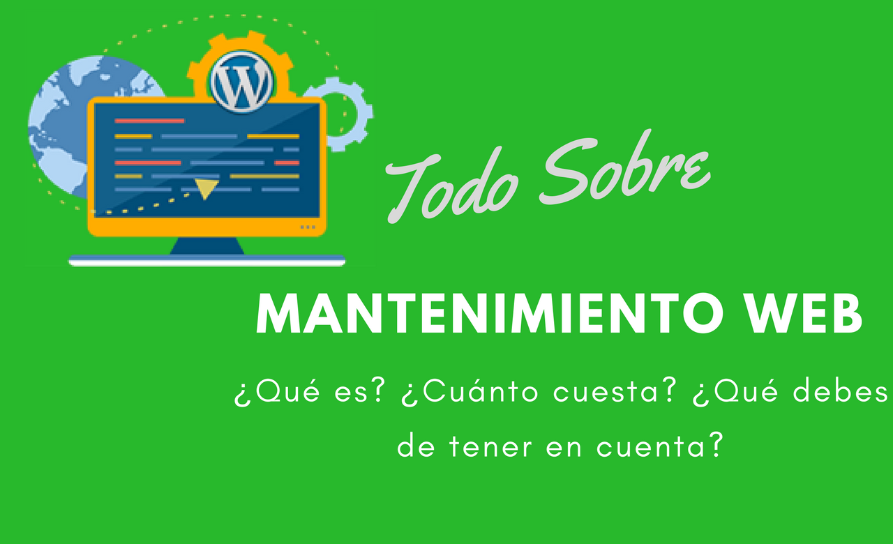 contratar mantenimiento web mensual